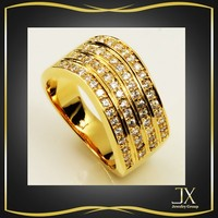 wide band gold plate banding ring settings