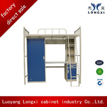 Economical school furniture, student bunk bed with desk
