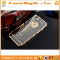 High Quallity Pure Handmade Mirror Diamond Bling Case For iphone 6