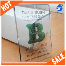 Pretty design plastic silver transparent visiting cards
