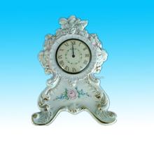 Vintage handpainted ceramic mantel clock