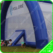 2015 hot sale CE ,SGS ,TUV cetificited aluminum alloy frame and PVC fabric inflatable tent price