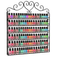 wall mounted metal nail polish rack, nail polish wall rack with high quality