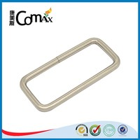 Iron material round edge metal square ring for bag
