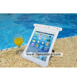 2015 TPU&PVC bag for IPAD mini pass IPX8 30m&3H pvc bag