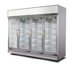 Upright freezer showcase , upright glass door freezer , glass door fridge