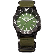 Green Nylon Band Strap Outdoor Sport Military Mens Brand Watch 100m Waterproof