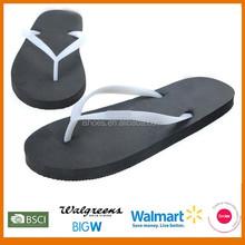 New design 2015 rubber cheap ladies flat slipper flip flop