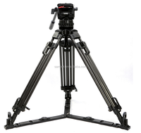 Teris professtional high quality carbon fiber camera video tripod for professtional vidicon