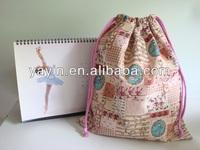 2014 cotton drawstring shoe bag