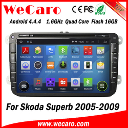 Wecaro Android 4.4.4 WC-SU8032 wifi 3g touch screen car radio gps for skoda superb car dvd navigation 2005 2006 2007 2008 2009