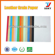 Colorful A4 leather book paper leather grain paper leather book cover