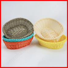 Handmade cheap decorative plastic basket for bread