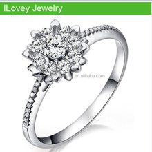 wholesale nice snow flower ring for lady