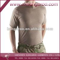 Mens shorts sleeves cotton jersey round neck military training underwear