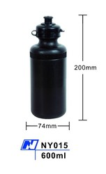 Custom design label printing black water bottle from bottle factory in China