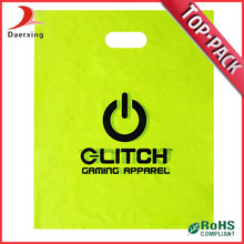 Manufacture hot sell fashion LDPE customized shopping handle bag