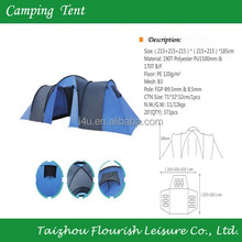3 room 9-10 person extra large famliy camping tents/8 Person Instant Cabin Tent /Waterproof Outdoor Hiking Airbed