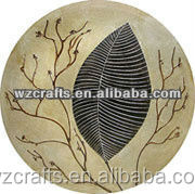 Circle design plate oil painting suns models