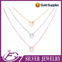 Unique style cz stone 925 silver price per gram name necklace
