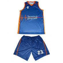 Digital Printing Basketball Uniform Design/Basketball Jersey Manufacturer