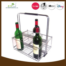 6 pcs wine succinct stainless steel basket alcohol holders