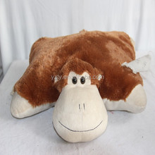 Good quality stuffed and soft plush monkey pillow cushion
