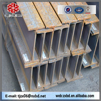 High quality tensile strength hot rolled steel h beam size
