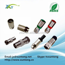 coaxial cable rg6 Europe Type High quality rg6 compression f connector conector rg6