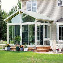 Galvanized aluminium Garden green house / glass green house / conservatory / sun room / gazebo