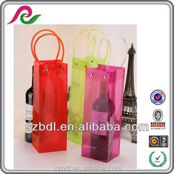 2015 Colorful eco-friendly fashion pvc wine bag mamufacturer price in china