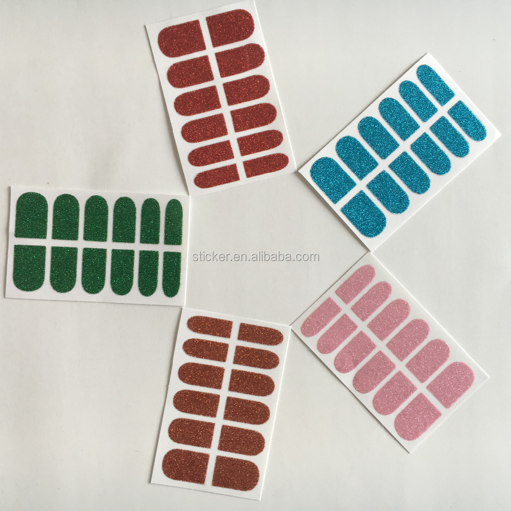 High Quality Glitter Nail Polish Stickers Custom Vinyl