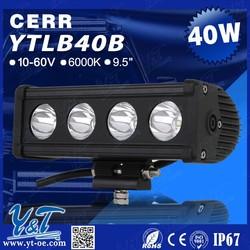 9.5inch 40W off road single rows LED light bar IP67 for SUV, UTV, ATV, truck, jeep etc