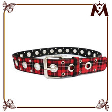 Factory wholesale fancy unisex custom canvas belts with holes