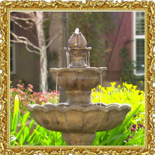 3 Tier garden stone water fountain with LED Light