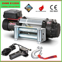 12500lbs high quality off-road heavy duty winch with wire rope