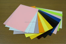 colorful frosted pvc sheet for stationery,cover book pvc sheet,red frosted pvc sheet