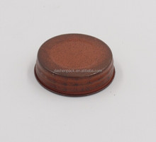 round metal screw glass jar lid for candle plastic gasket