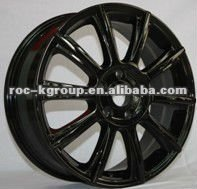 25 inch black chrome alloy wheels