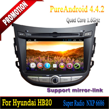 Hot selling 7 inch Car dvd android 4.4.2 quad core support DVR+TPMS for Hyundai HB20 /Car dvd mp3 player