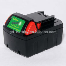 Power tool battery for Milwaukee M18 Samsung Li-ion cells, 3.0Ah 4.0Ah