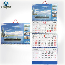 ucolor custom folding calendar in 3 folds , shipping calendar