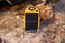 Solar Power Charger and Power Bank 12000 mah Heavy Duty Tough Waterproof Black