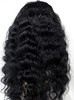 20inch black wavy 100 brazilian virgin hair adjustable full lace wigs, glueless lace front wig