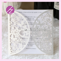 Hot sell Chinese laser cut wedding cards table card table decorations QJ-155