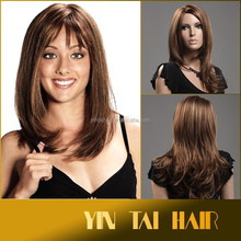 Wholesale Soft Design Hair Sexy Fashion Long Wave blond Lady's Synthetic Hair Wig Full Lace Wig for Fast Shipping