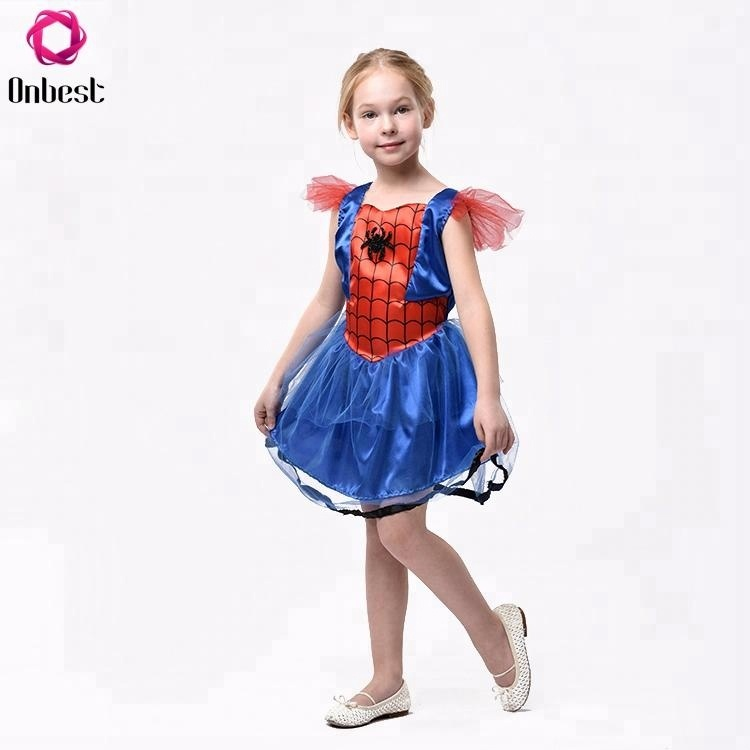 Bambini Ragazza Fancy Dress Carnevale Halloween Party Spider Costumi