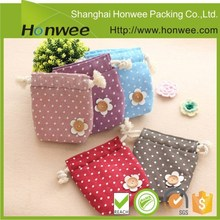 hot sale packaging cotton drawstring bag