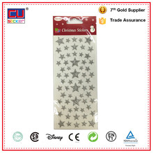 Promotion gift star sticker with glitter and puffy good gift for kids