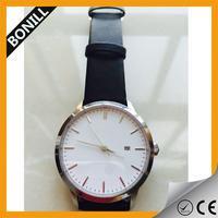 Specila buckle high quality genuine leather butterfly clasp watch simple degidn custom logo